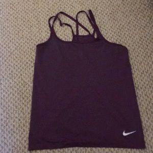 Purple Nike dri-fit tank